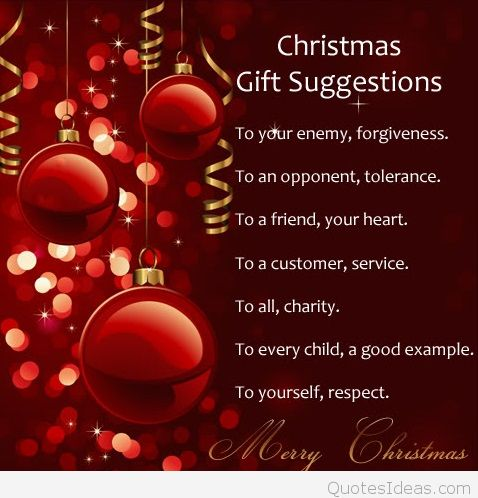 To Your Enemy Forgivness Christmas Gift Quotes