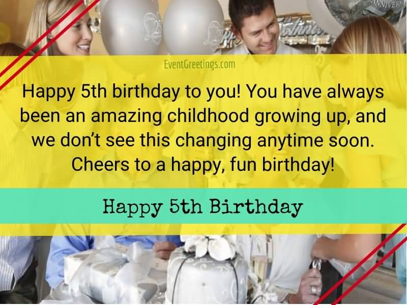 You Have Always Been 5th Birthday Wishes