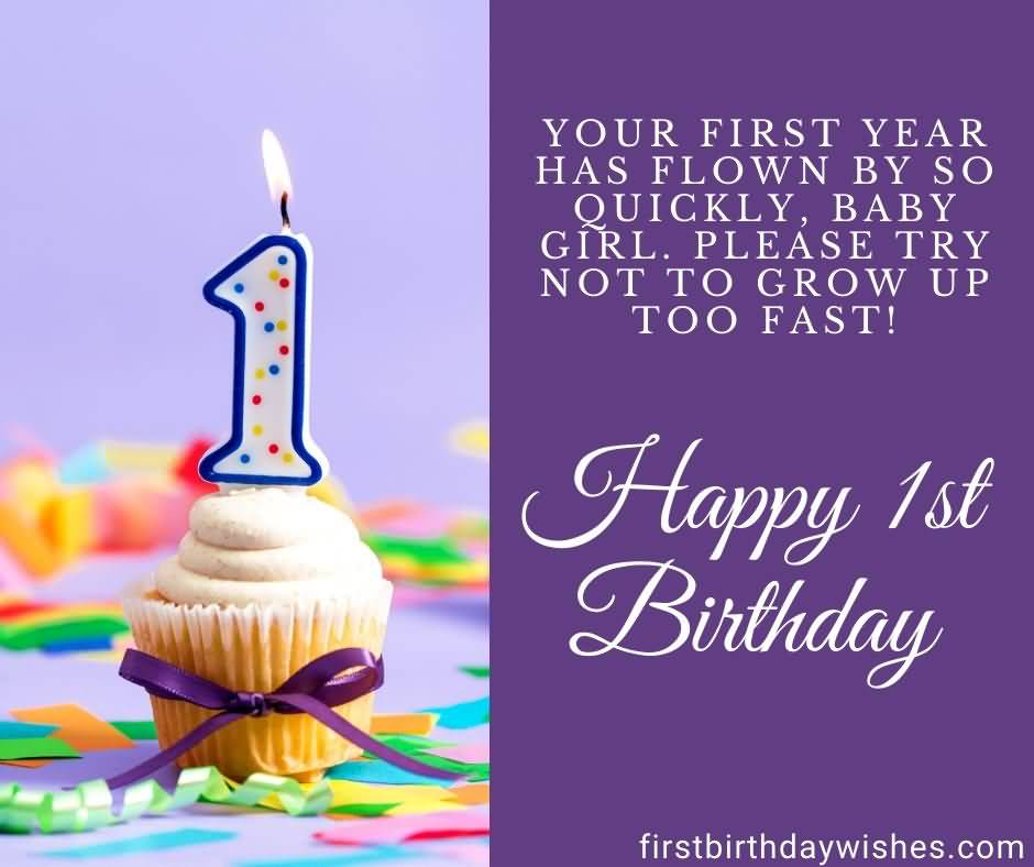 Your First Year Has 1st Birthday Wishes
