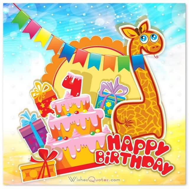 Yummy 4th Birthday Cake 4th Birthday Wishes