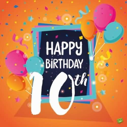 Amazing 10th Birthday Image For Children