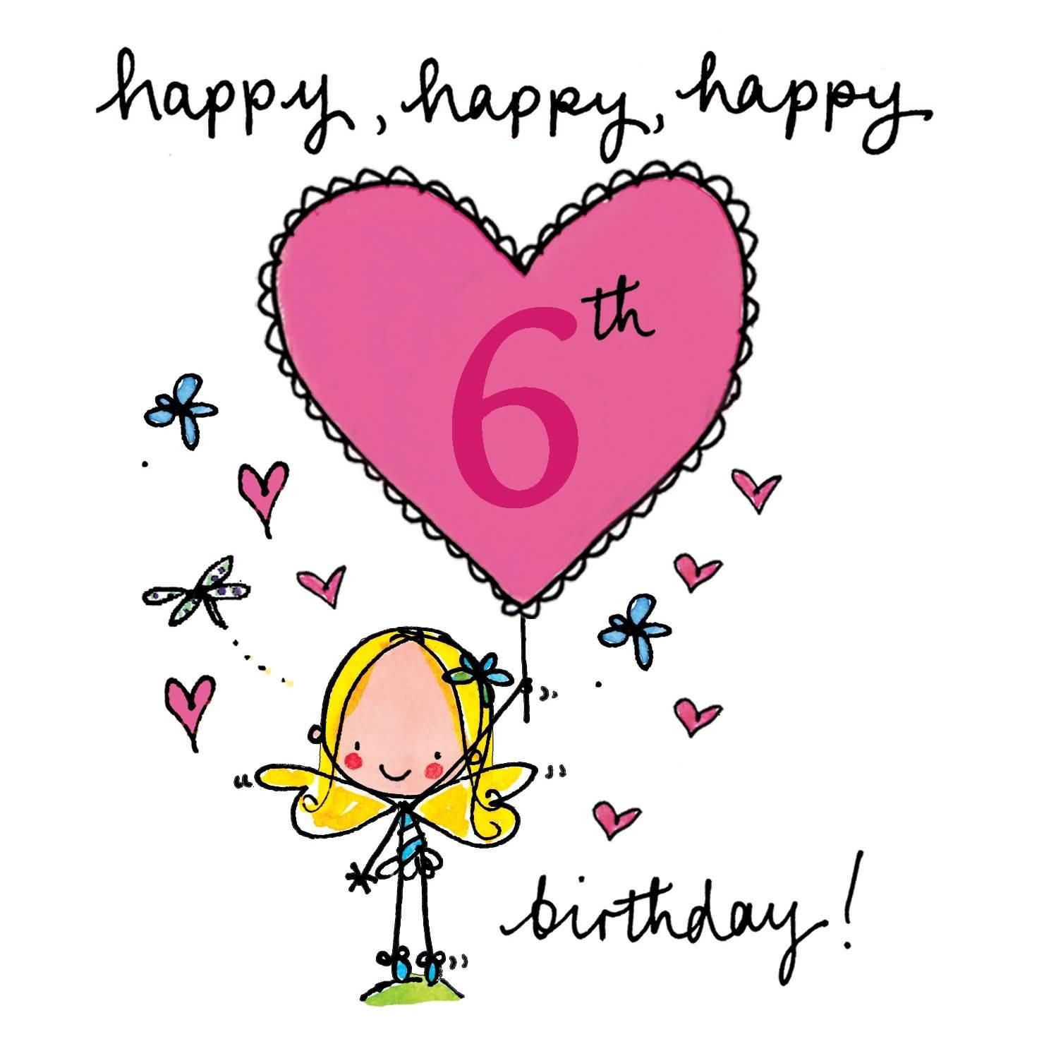 Amazing 6th Birthday Greeting For Children