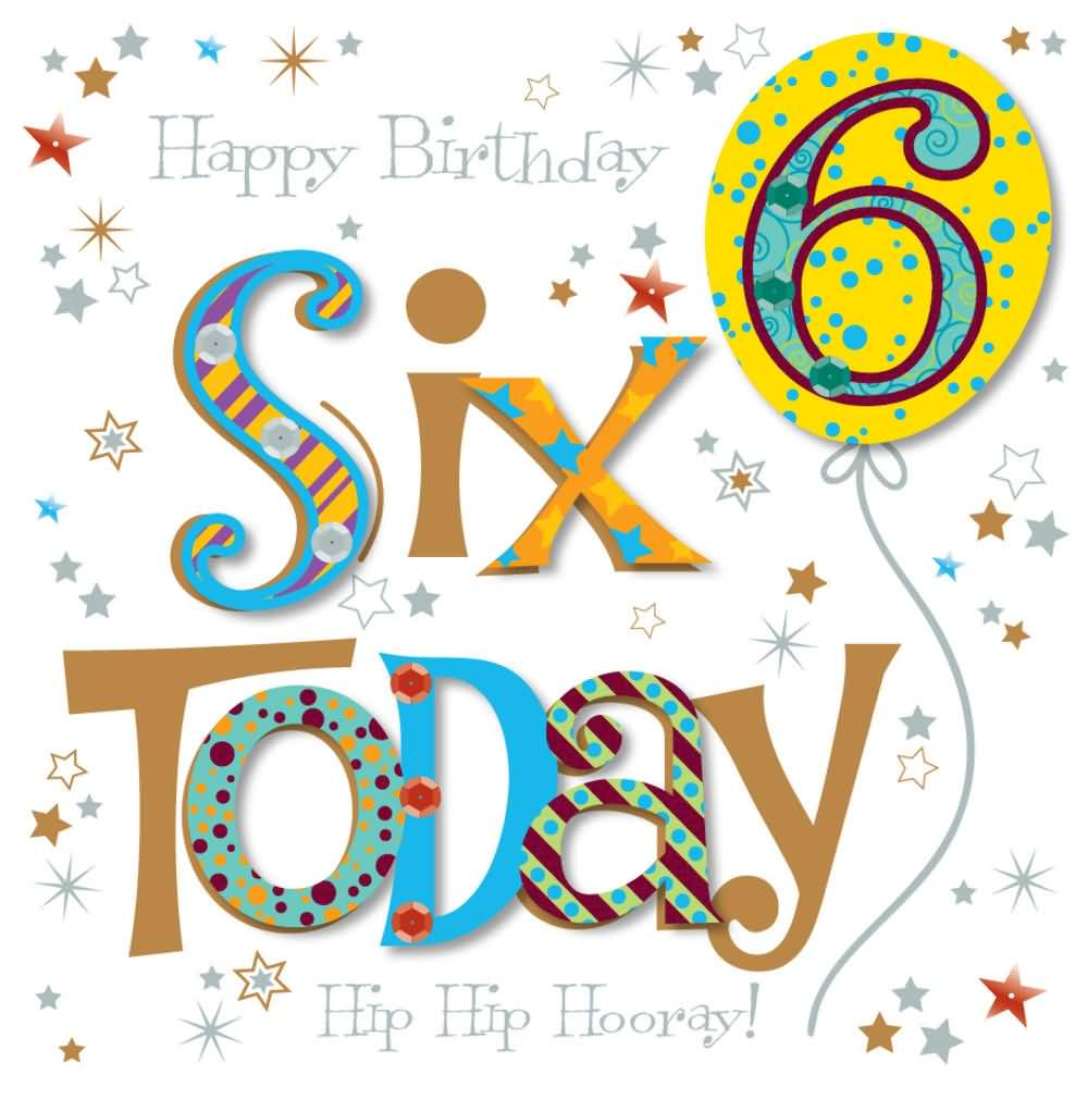 Amazing 6th Birthday Picture For Children
