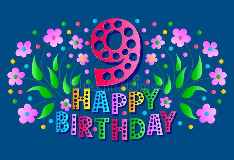 Amazing 9th Birthday Card For Children