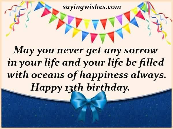 Amazing Happy 13th Birthday Greeting For Children
