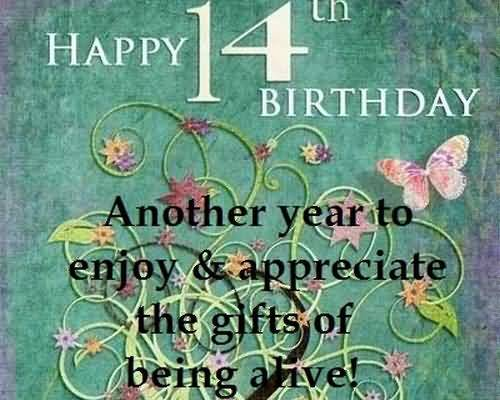 Amazing Happy 14th Birthday Wish For You