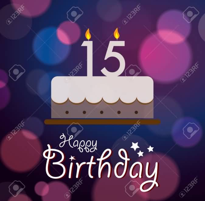 Amazing Happy 15th Birthday Greeting For Children