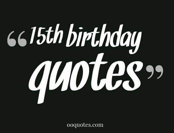 Amazing Happy 15th Birthday Picture For Children