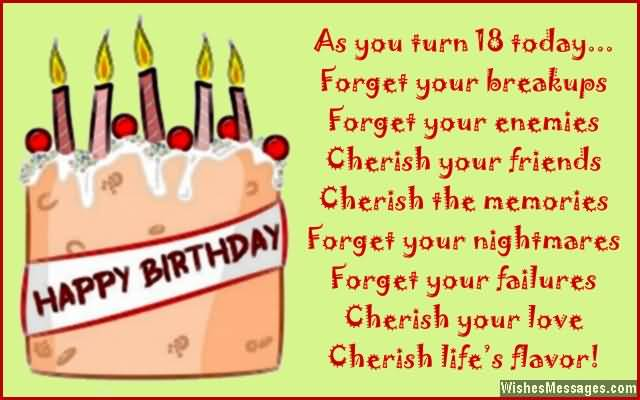 Amazing Happy 18th Birthday Image For Children
