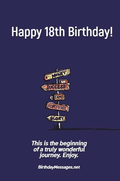 Amazing Happy 18th Birthday Message For Children