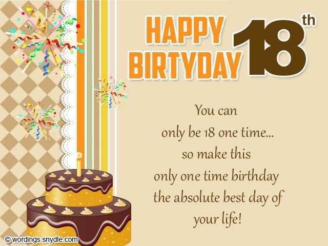 Amazing Happy 18th Birthday Picture For Children