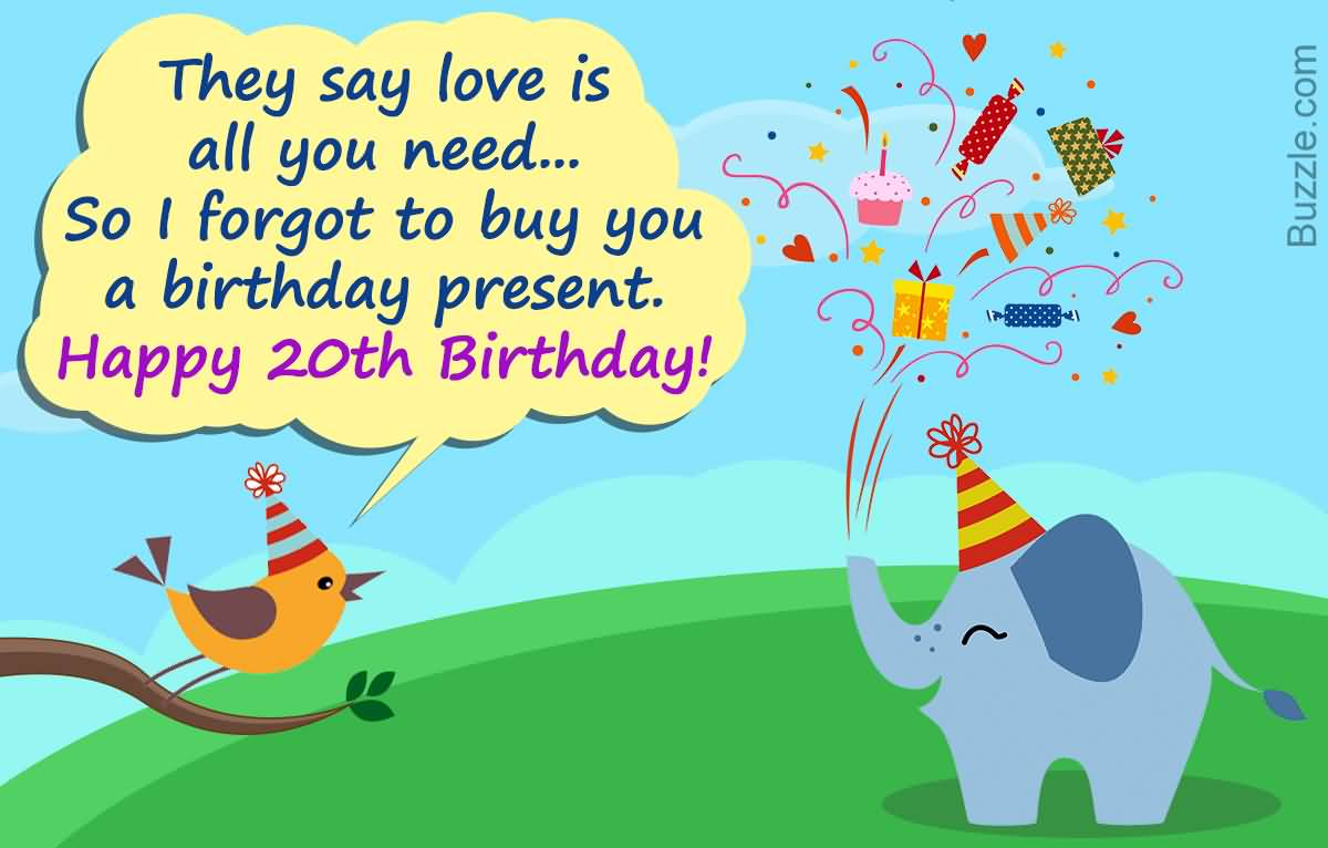 Amazing Happy 20th Birthday Image For You