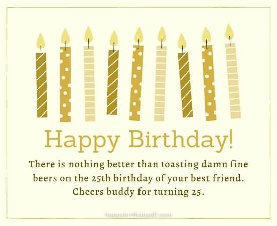 Amazing Happy 25th Birthday Card For Sharing