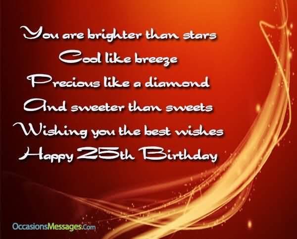 Amazing Happy 25th Birthday Image For Sharing