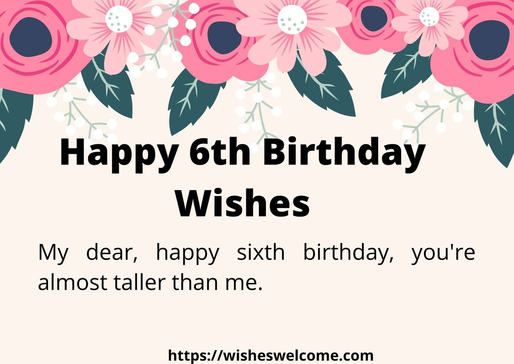 Attractive 6th Birthday Greeting For You