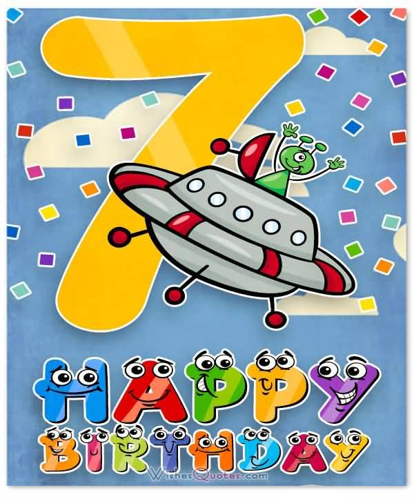 Attractive 7th Birthday Card For You