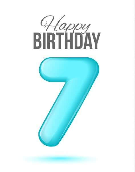 Attractive 7th Birthday Image For You