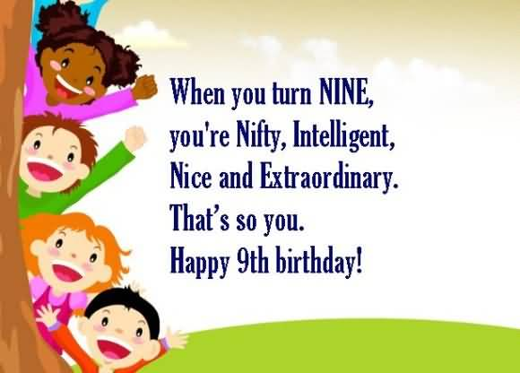 Attractive 9th Birthday Message For You