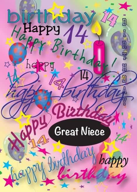 Attractive Happy 14th Birthday Wish For Facebook