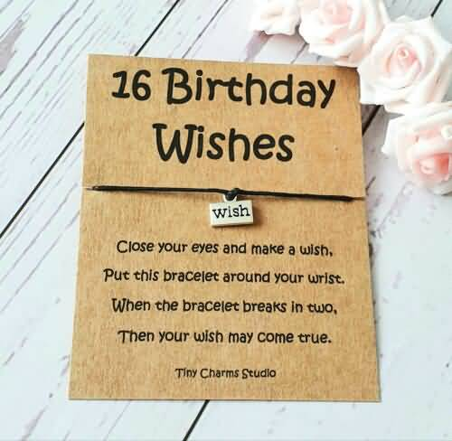 Attractive Happy 16th Birthday Wish For You