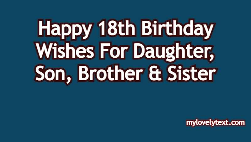 Attractive Happy 18th Birthday Message For You