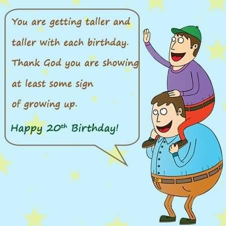Attractive Happy 20th Birthday Wish For Facebook