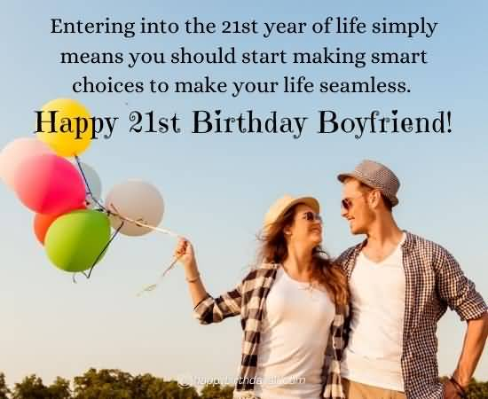 Attractive Happy 21st Birthday Greeting For You