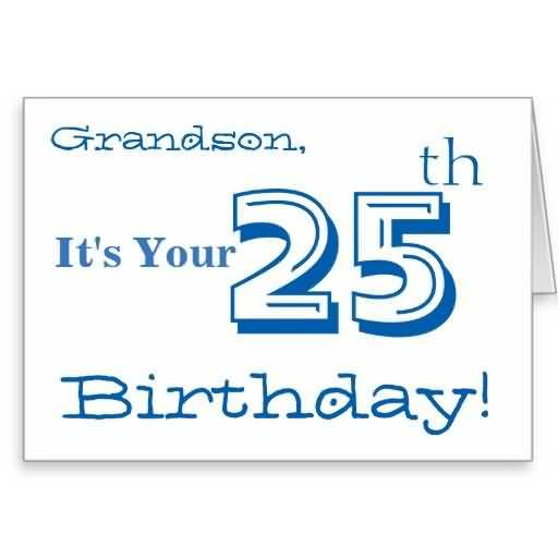 Attractive Happy 25th Birthday Card For Family Member