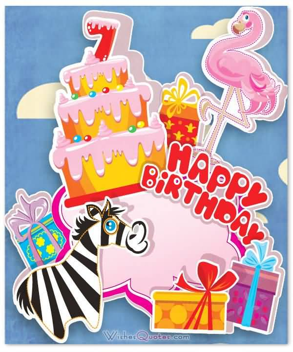 Awesome 7th Birthday Greeting For Facebook