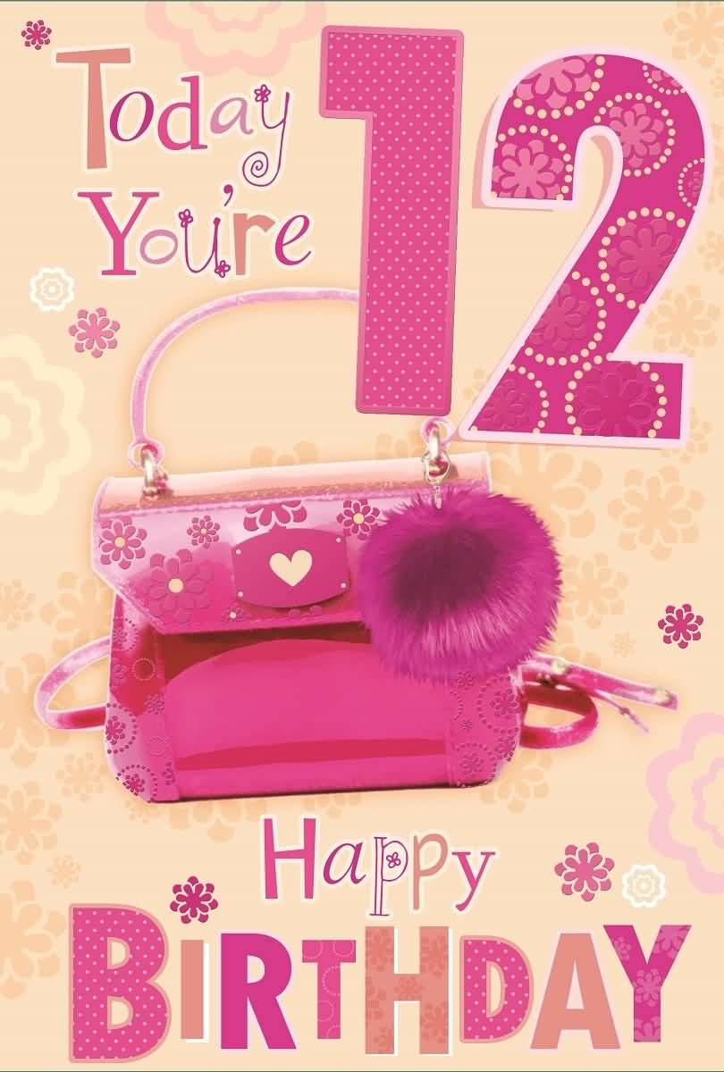 Awesome Happy 12th Birthday Wishes Card For Facebook