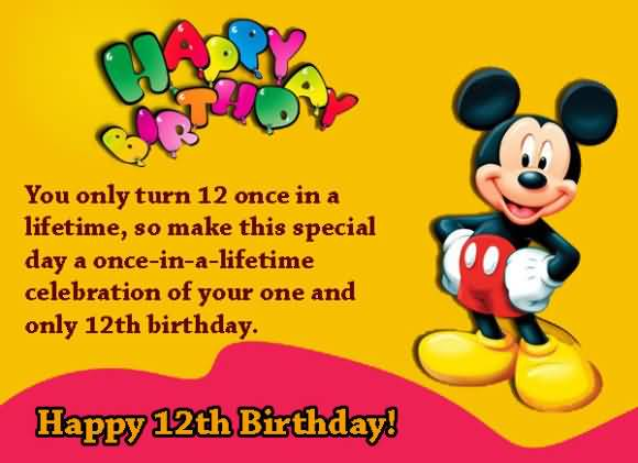 Awesome Happy 12th Birthday Image For Facebook
