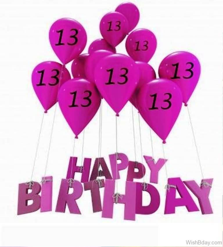 Awesome Happy 13th Birthday Wishes Greeting For Facebook