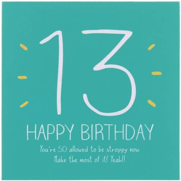 Awesome Happy 13th Birthday Picture For Facebook