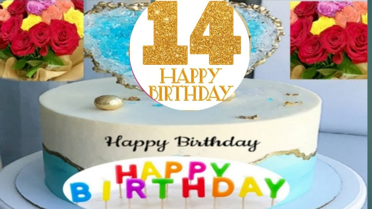 Awesome Happy 14th Birthday Greeting For Kid