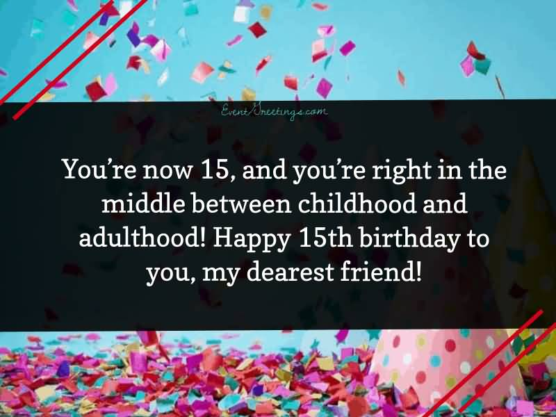 Awesome Happy 15th Birthday Wishes Card For Facebook