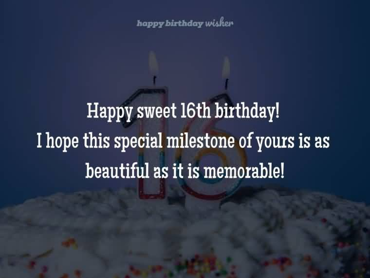 Awesome Happy 16th Birthday Wishes Message For Facebook