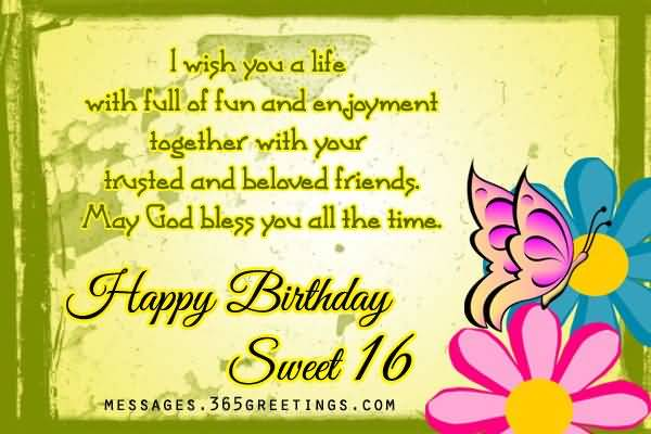Awesome Happy 16th Birthday Picture For Facebook