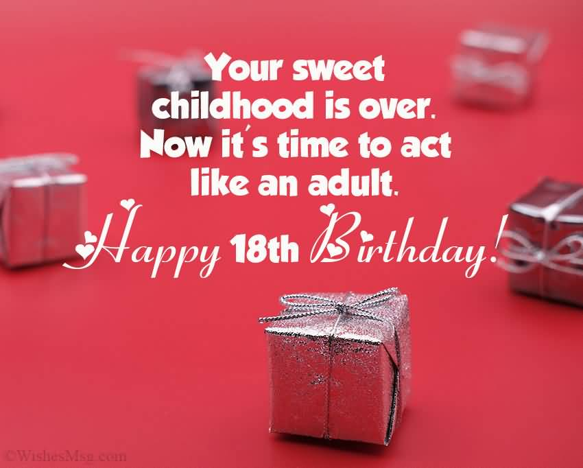 Awesome Happy 18th Birthday Greeting For Facebook