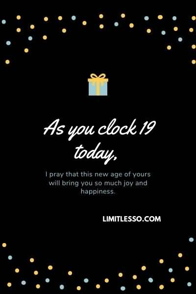 Awesome Happy 19th Birthday Wishes Picture For Facebook