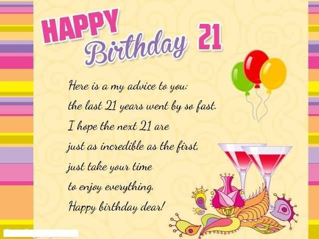 Awesome Happy 21st Birthday Card For Facebook