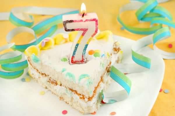 Beautiful 7th Birthday Greeting For Sharing