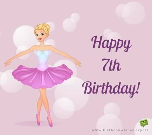 Beautiful 7th Birthday Message For Sharing