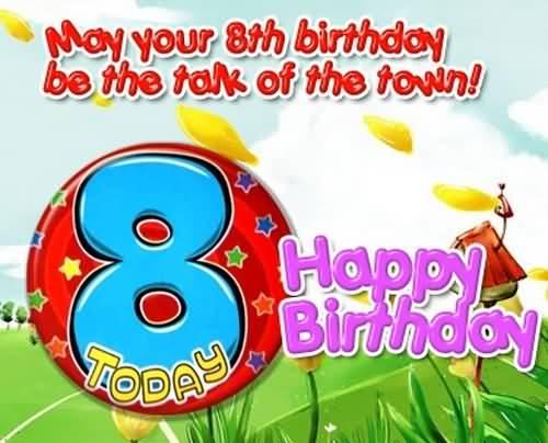 Beautiful 8th Birthday Idea For Children