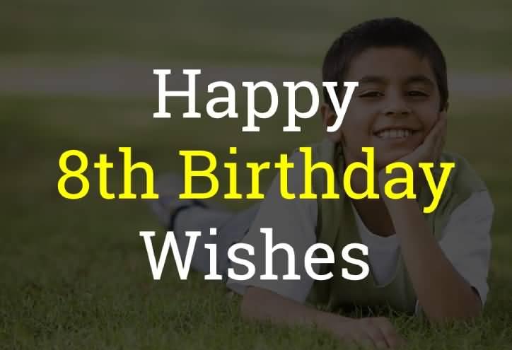 Beautiful 8th Birthday Image For Children