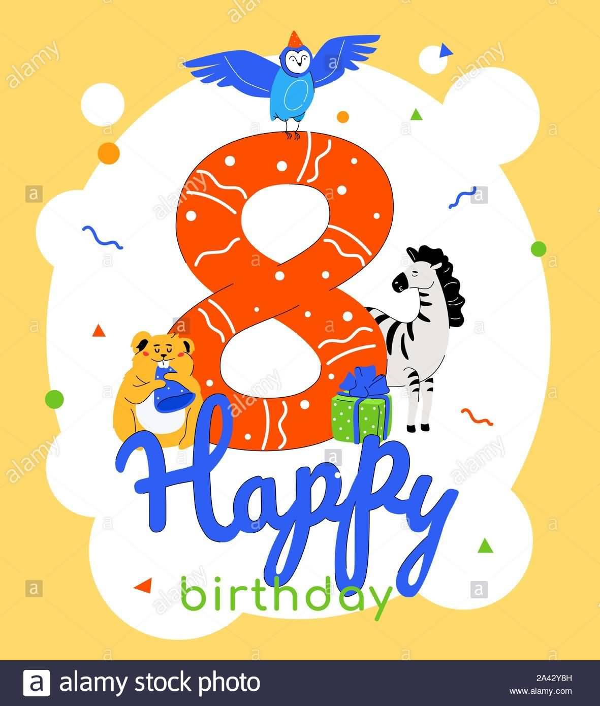 Beautiful 8th Birthday Message For Children