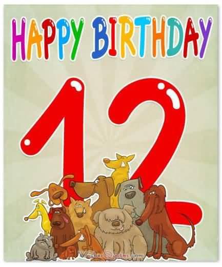 Beautiful Happy 12th Birthday Idea For Sharing