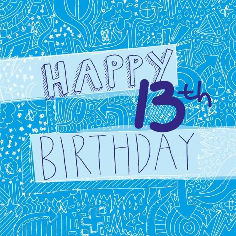 Beautiful Happy 13th Birthday Card For Sharing
