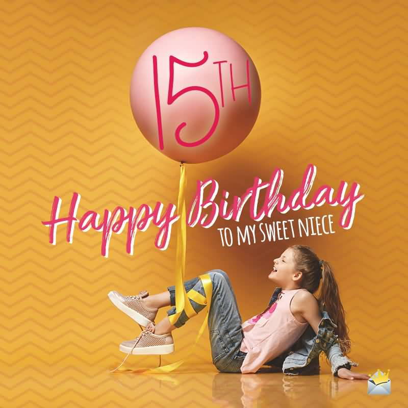 Beautiful Happy 15th Birthday Wish For Sharing