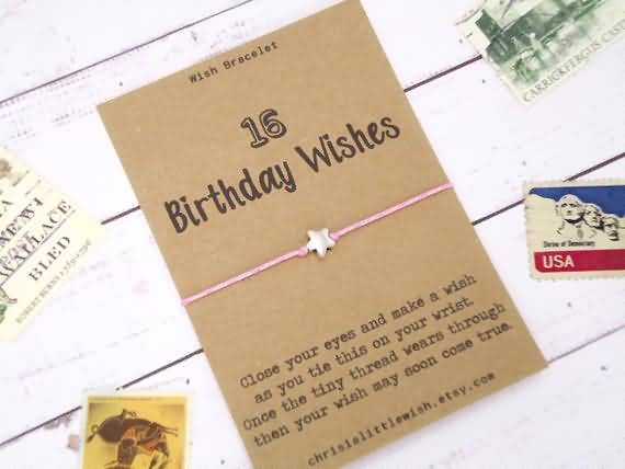 Beautiful Happy 16th Birthday Wishes Card For Sharing