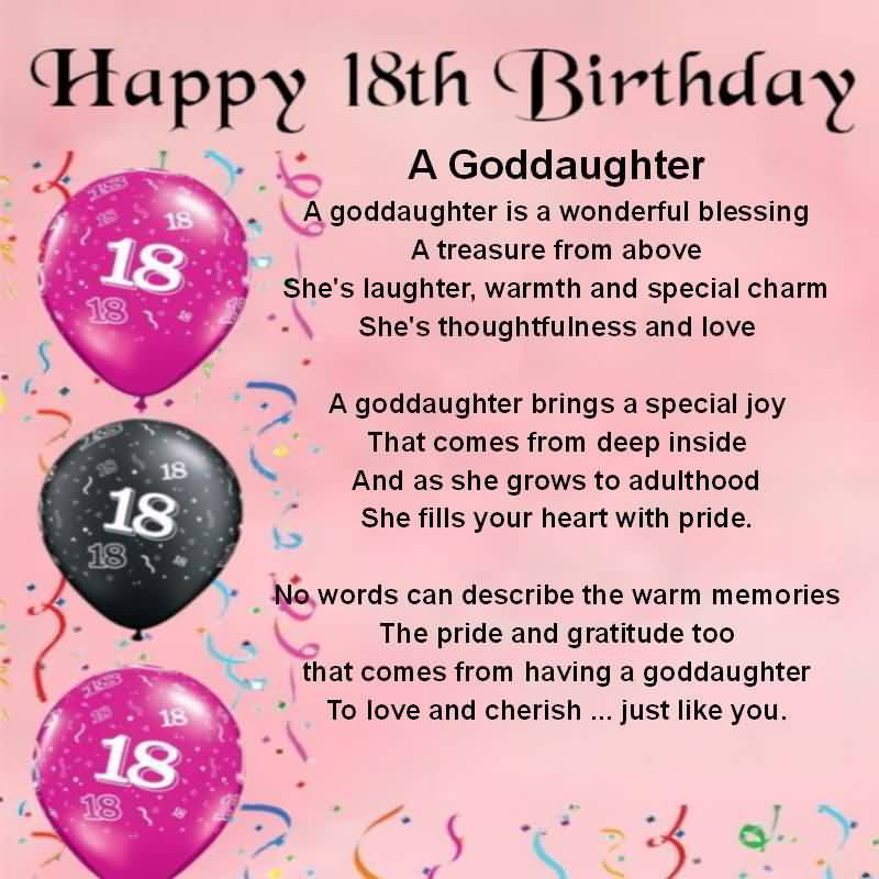Beautiful Happy 18th Birthday Wishes Image For Sharing